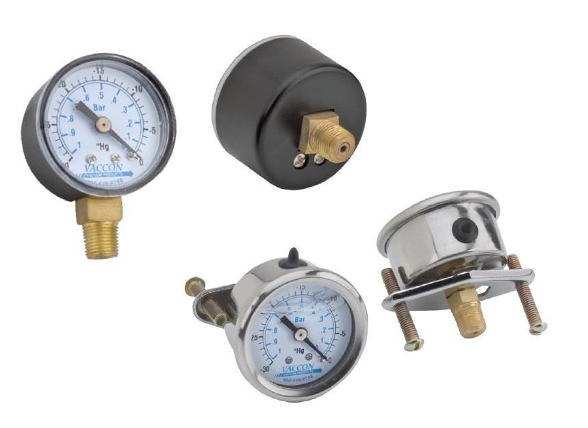 Vacuum Gauges On Vaccon Co Inc