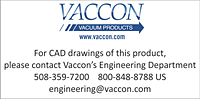 Call Vaccon for CAD drawings of products with solenoid valves with M8 connectors. 508-359-7200